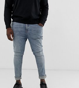 Read more about Asos design plus super skinny jeans in light wash-blue