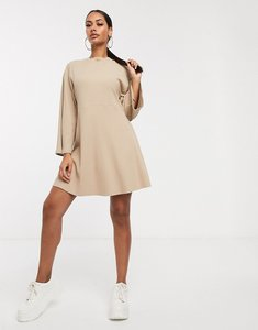 Read more about Asos design rib oversized smock dress in camel-beige