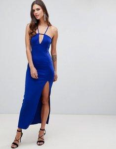 Read more about Asos design scuba maxi dress with lace back detail-blue