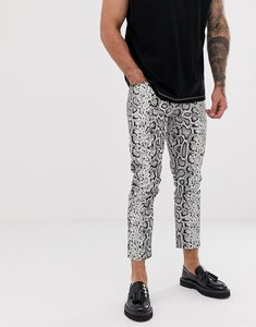 Read more about Asos design skinny jeans in leather look snake skin-brown