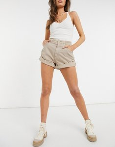 Read more about Asos design slouchy mom short in washed stone