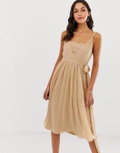 Read more about Asos design soft chiffon square neck midi prom dress with twist strap-multi
