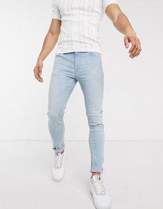 Read more about Asos design super skinny jeans in light wash blue