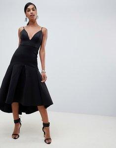 Read more about Asos design sweetheart midi dress with pephem-black