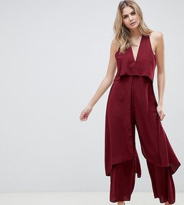 Read more about Asos design tall jumpsuit with multi layers-red