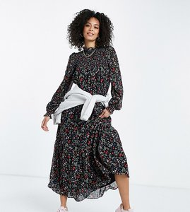 Read more about Asos design tall shirred bodice maxi dress in botanical floral print-multi