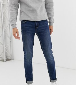 Read more about Asos design tall skinny jeans in dark wash-blue
