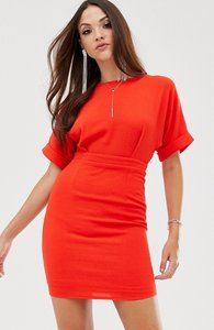 Read more about Asos design wiggle mini dress in red
