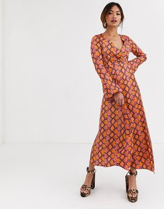 Read more about Asos design wrap maxi dress in bright snake print-multi