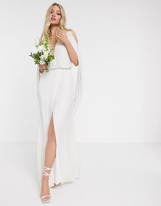 Read more about Asos edition samantha beaded wedding dress with drape sleeves-white