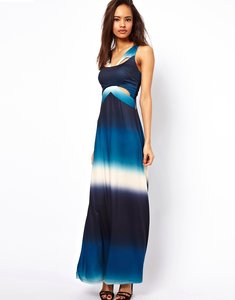 Read more about Asos maxi dress in ombre print-multi