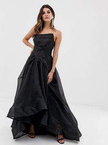 Read more about Bariano full maxi dress with organza bust detail in black
