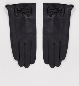 Read more about Barney s originals real leather gloves with bow detail in black
