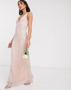 Read more about Beauut embellished sleek maxi dress in blush-pink