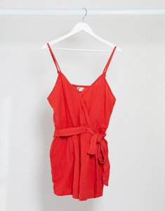 Read more about Billabong linger on beach playsuit in red