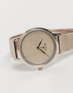 Read more about Boss womens mesh watch and bracelet in rose gold