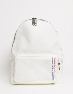 Read more about Calvin klein canvas utility backpack in white