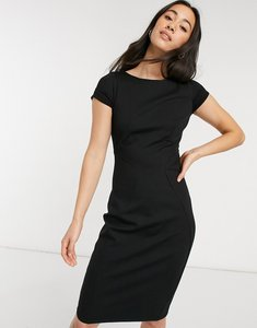 Read more about Closet london pencil dress with ruched cap sleeve in black