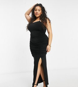 Read more about Club l maxi dress with split in black