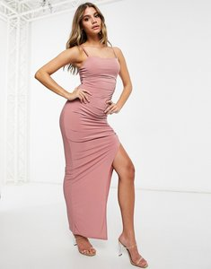 Read more about Club l maxi dress with split in pink