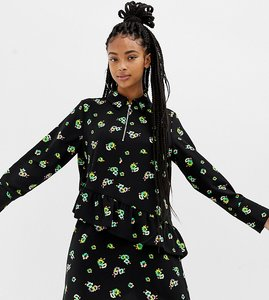 Read more about Collusion floral print mini dress with zip front-multi