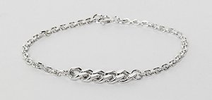 Read more about Designb chain bracelet in sterling silver exclusive to asos