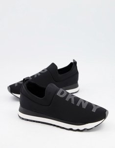 Read more about Dkny slip on leather logo trainers in black