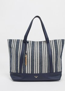 Read more about Dune danvas striped canvas tote bag-multi