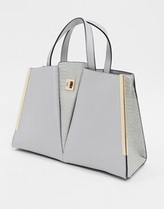 Read more about Dune dopple v detail structured tote bag-grey