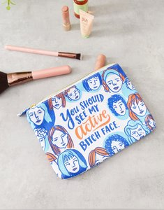 Read more about Emily mcdowell you should see my active bitch face canvas pouch-multi