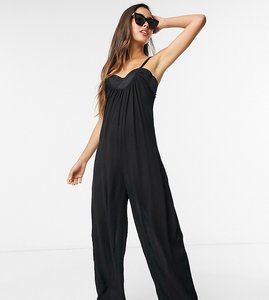 Read more about Esmee exclusive relaxed beach jumpsuit in black
