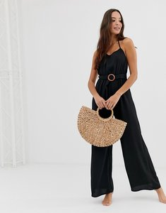 Read more about Fashion union coriander beach jumpsuit in black