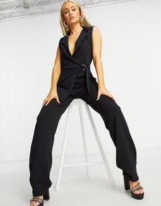 Read more about Femme luxe wrap jumpsuit in black
