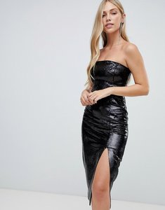 Read more about Forever new sequin column midi dress in black