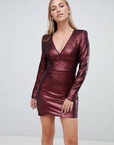 Read more about Forever new sequin mini dress in burgundy-red