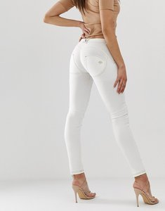 Read more about Freddy shaping effect mid rise jean-white
