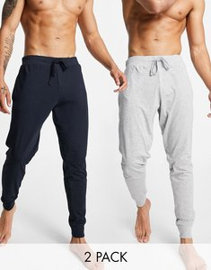 Read more about French connection 2 pack joggers in marine and light grey melange-multi