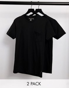 Read more about French connection 2 pack pocket t-shirt in black