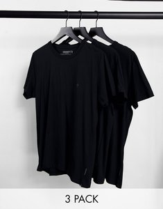 Read more about French connection 3 pack lounge t-shirt in black