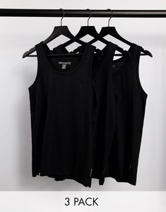 Read more about French connection 3 pack lounge vest in black