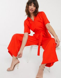 Read more about French connection belted utility jumpsuit-red