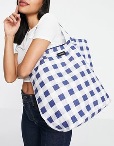 Read more about French connection canvas tote bag in black and white gingham print-multi