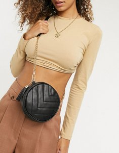Read more about French connection circle quilted bag in black