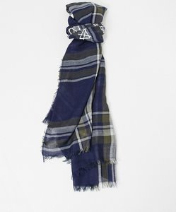 Read more about French connection classic scarf in blue and maroon stripe print