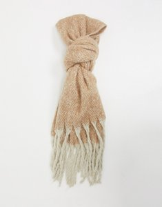 Read more about French connection contrast tassel scarf in beige-neutral