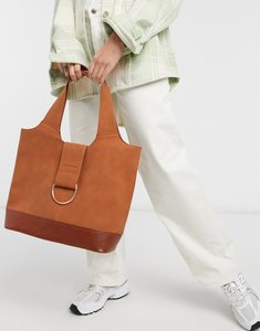 Read more about French connection croc block tote in tan-brown