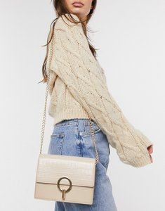 Read more about French connection croc crossbody bag with clasp in stone