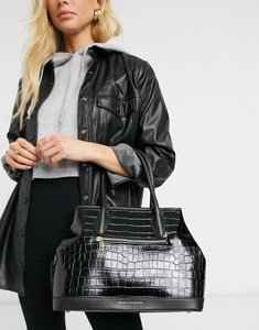 Read more about French connection croc handbag in black