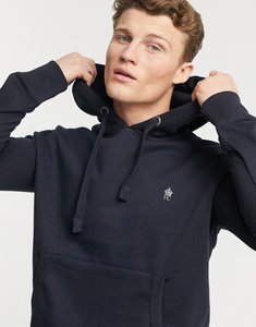 Read more about French connection essentials hoodie with logo in navy