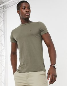 Read more about French connection essentials t-shirt in khaki-green